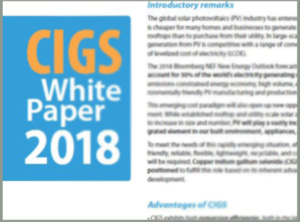 Looking forward to a new version of the CIGS White Paper!