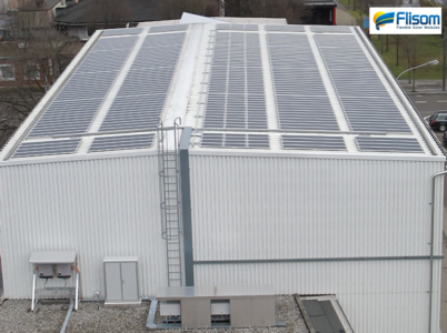 Installation of lightweight PV modules from Flisom