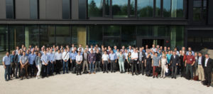 IW-CIGSTech 8 participants in front of the CIGS facade at new ZSW building in Stuttgart
